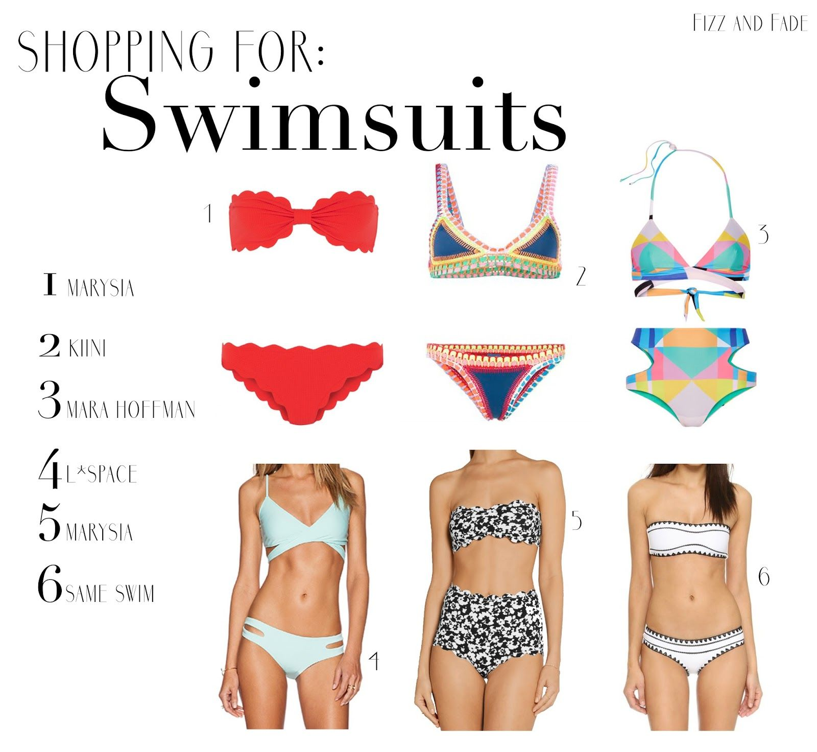 Shopping For : Swimsuits