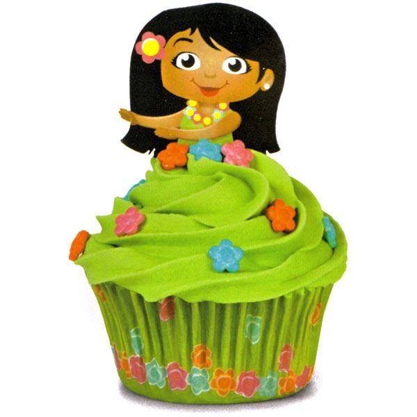 Hula Girl Cupcakes Topper At Joanns Make Icing Look Like Strings