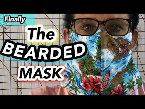 How to make a Mask For Beard ~ ZIP TIE Mask For Be