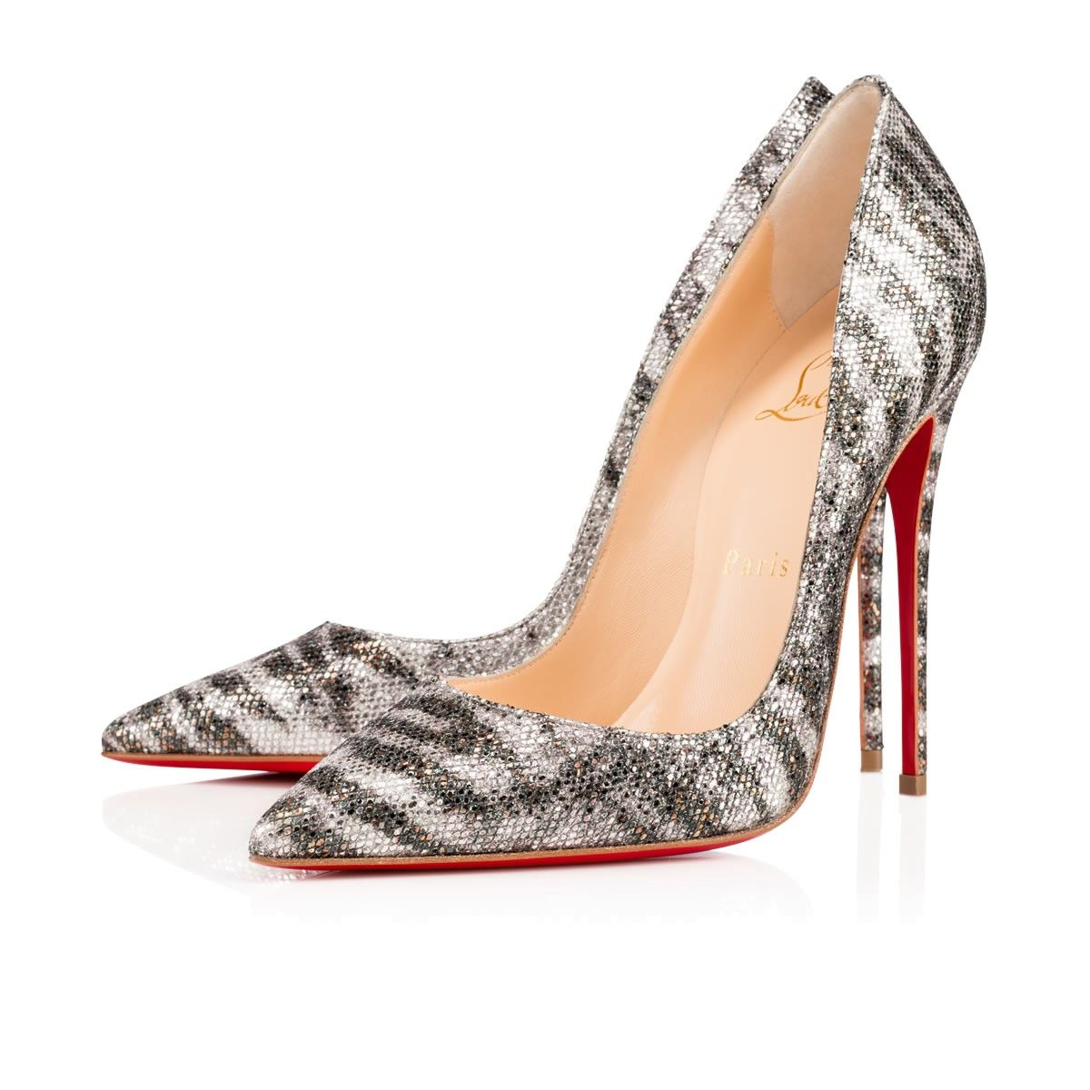 chaussures louboutin argent