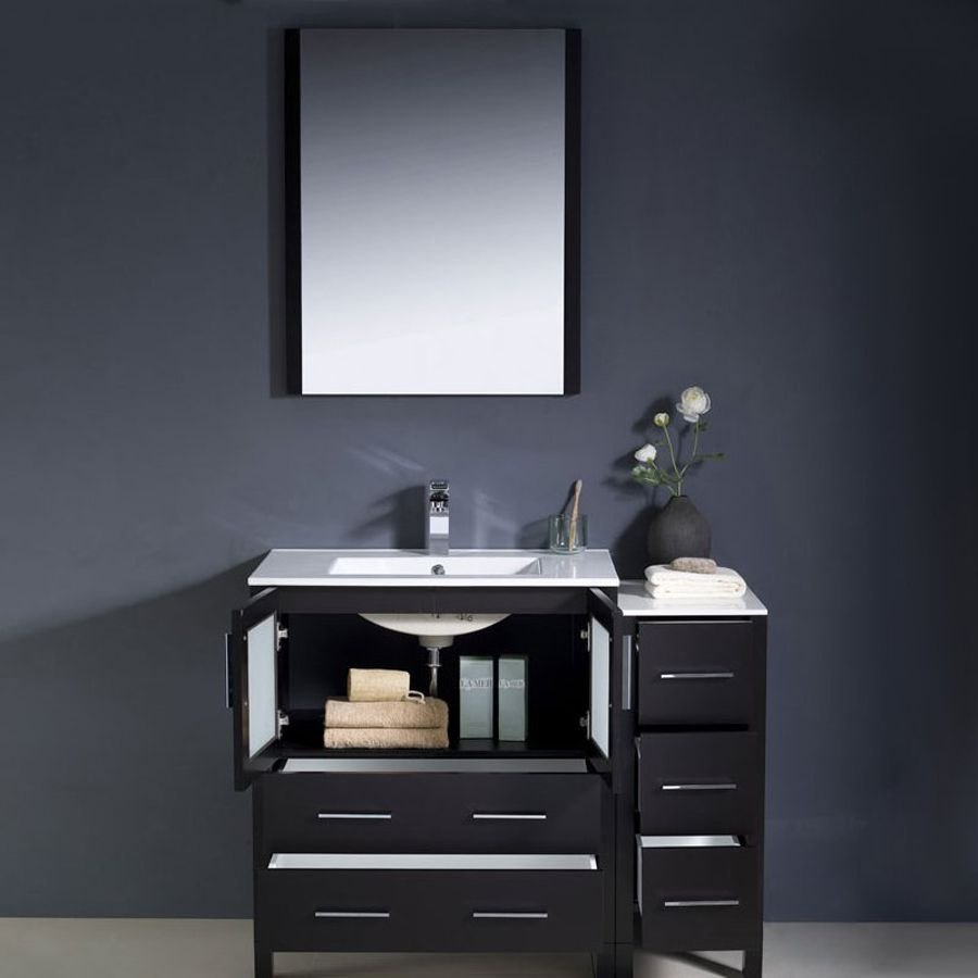 Shop Fresca Bari Espresso Undermount Single Sink Bathroom Vanity ...