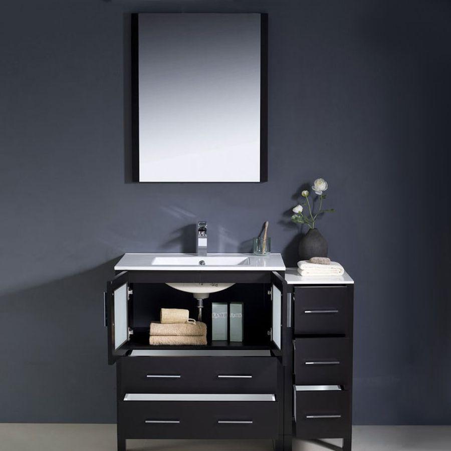 Shop Fresca Bari Espresso Undermount Single Sink Bathroom Vanity