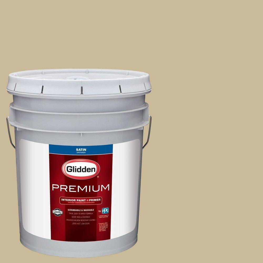 Glidden Premium 5 gal. #HDGY51 Cyprus Grass Satin Interior Paint with Primer
