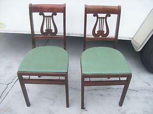Stakmore Folding Chairs Vintage.2 Vintage Mid Century Modern Music Note Back Stakmore All