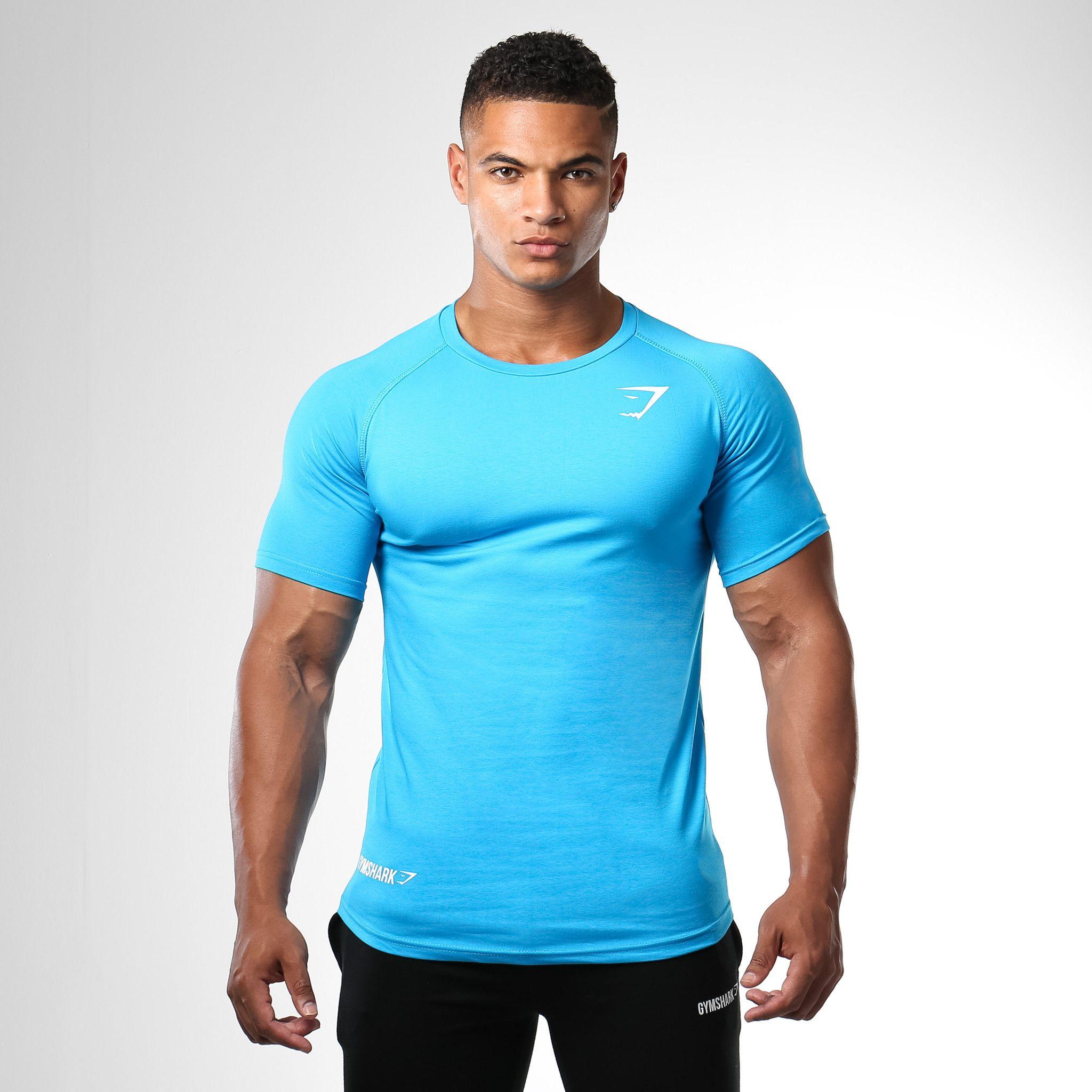 Gymshark Form Fitted T-Shirt - Gymshark Blue. The Gymshark Form ...
