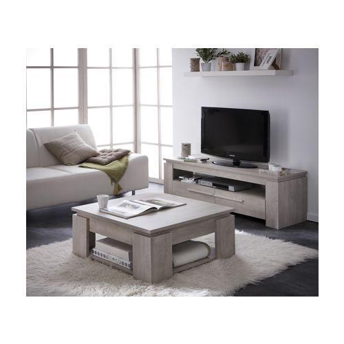 Rocambolesk table basse segur banc tv 140cm segur coloris chêne champagne bois pas cher achat vente meubles tv hi fi rueducommerce