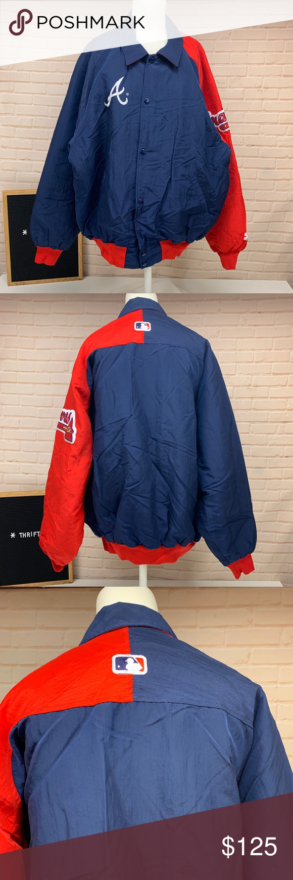 Atlanta Braves Starter Diamond Collection Jacket Clothes Design Collection Fashion Design