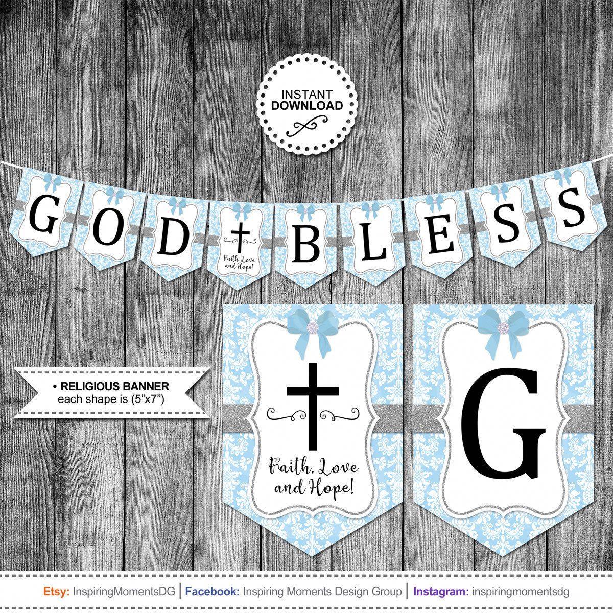 Boys First Holy Communion Banner Baptism Confirmation Etsy In 2021 Communion Banner First Holy Communion Cross Printable