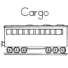 cargo train coach coloring pages