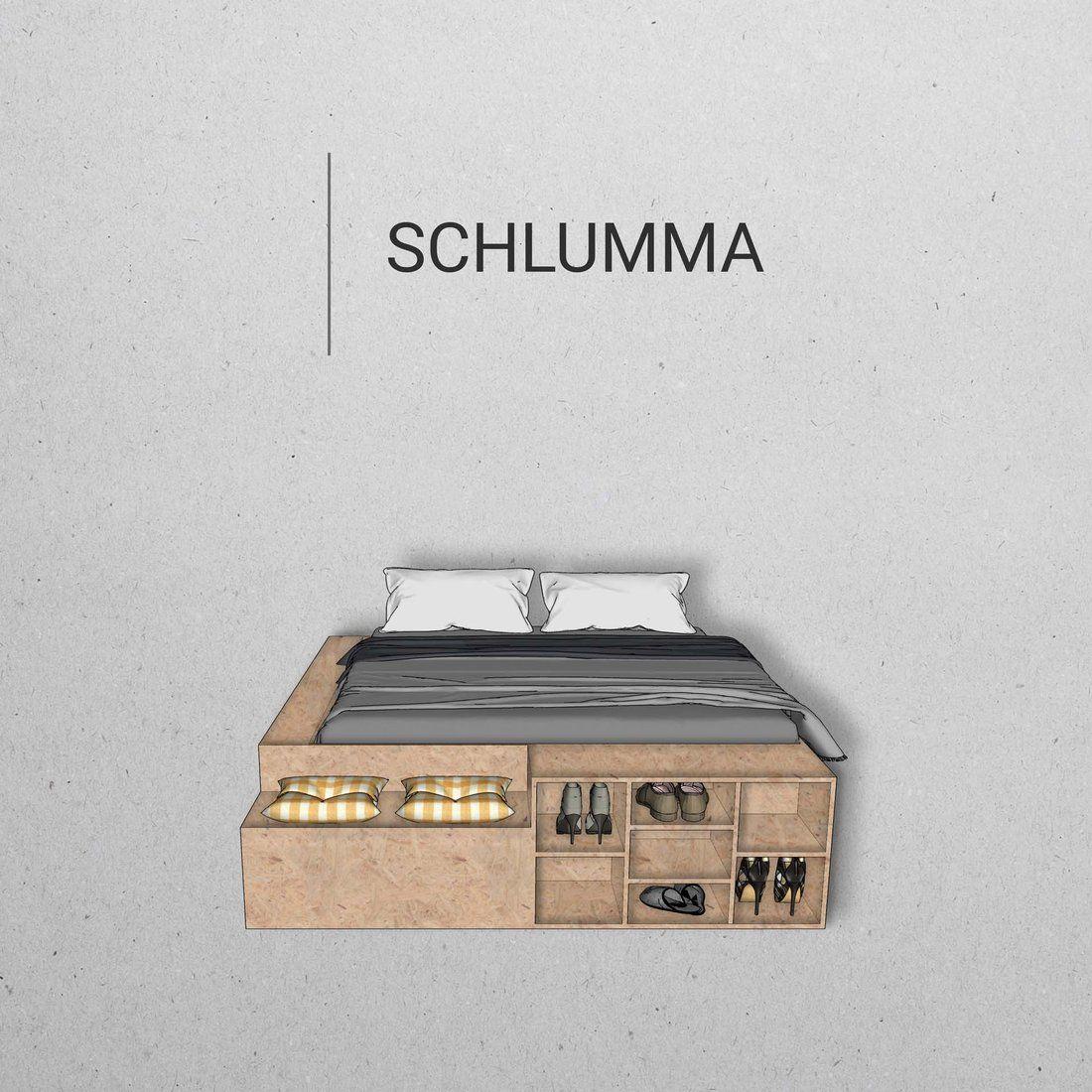 Bauplan: Bett SCHLUMMA