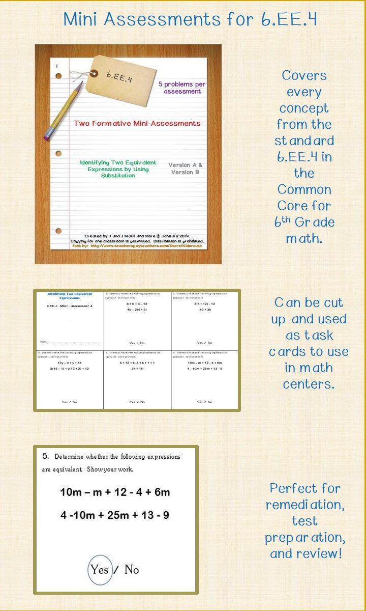 6th grade math 10 problems in two formative mini