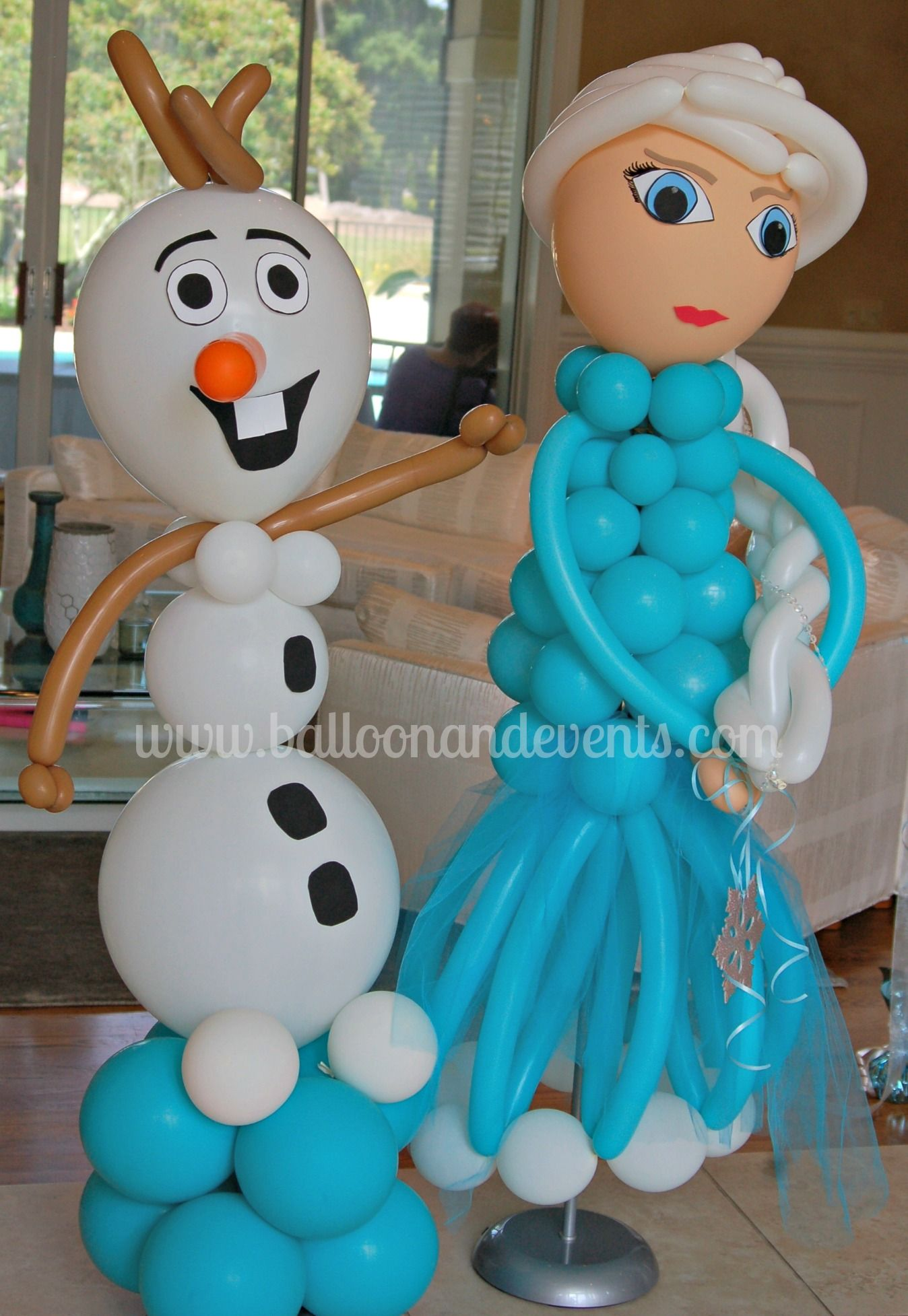 Frozen balloon decorations google search winter