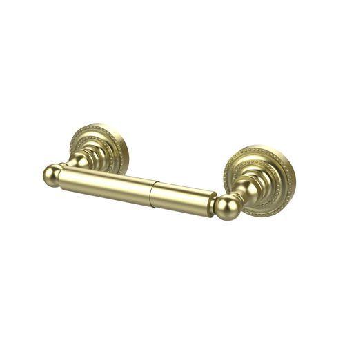 Satin Brass Double Post Toilet Paper Holder - (In Satin Brass)