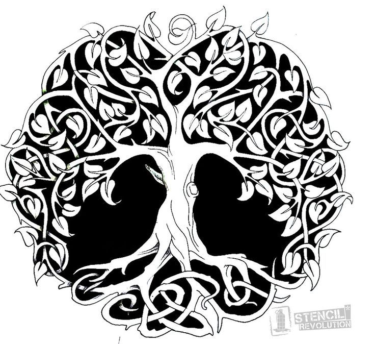 photo about Tree of Life Printable named Tree Of Existence Stencil Tattoo Designs N Things Celtic tattoos