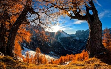 Snowy Autumn - Mountains Wallpaper ID 2017365 - Desktop Nexus Nature