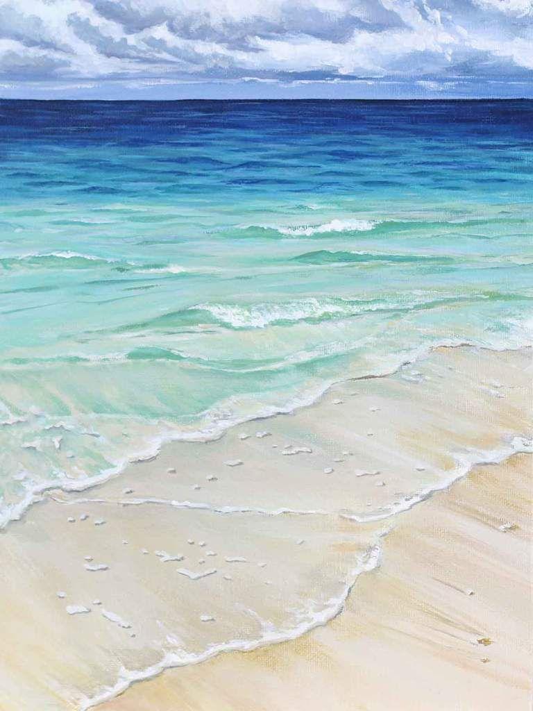 South Wind 8x10 Prints Mer Aquarelle Peinture Mer Et Plage