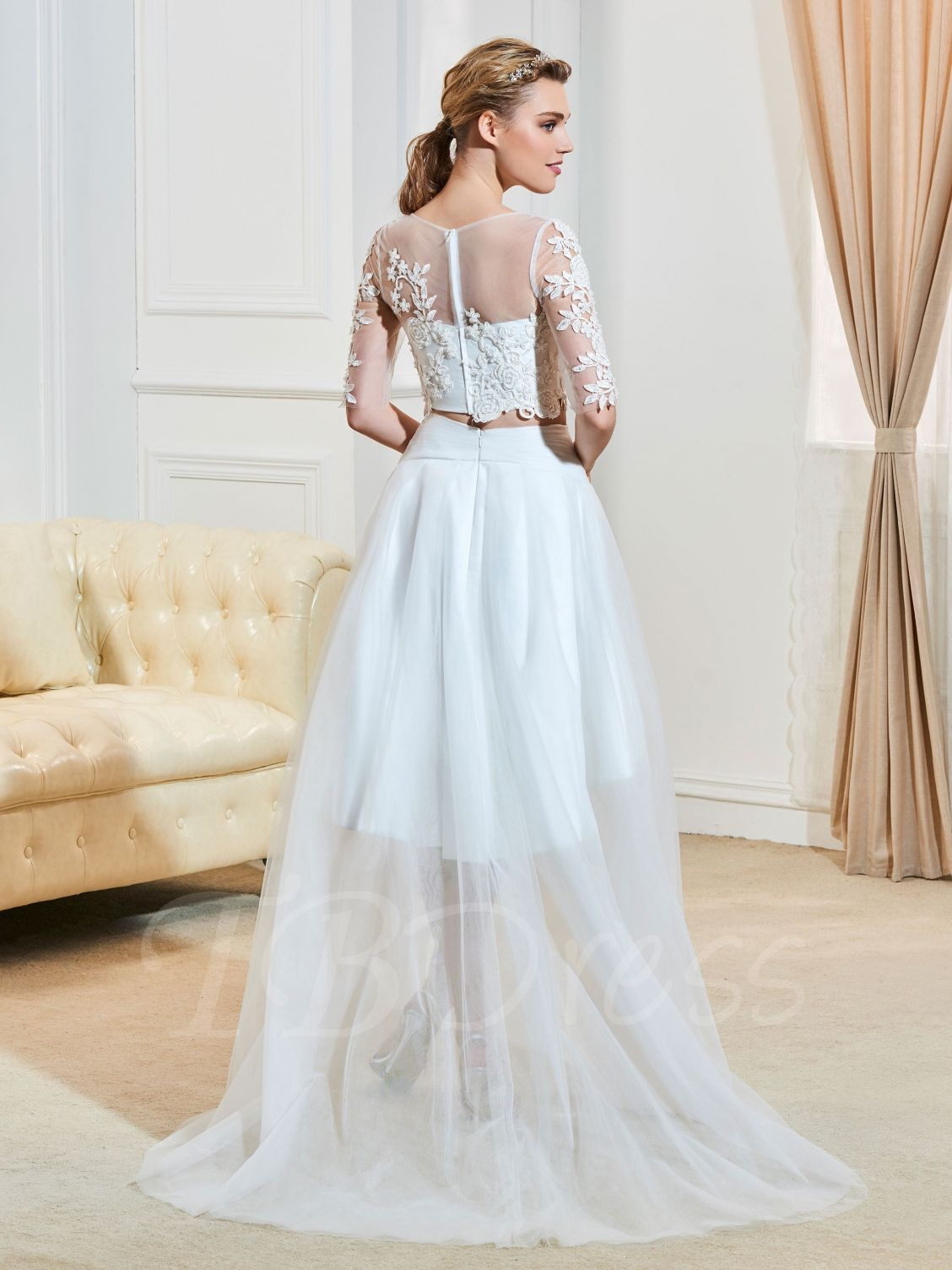 High Low Wedding Dress with Sleeves - Best Shapewear for Wedding ...