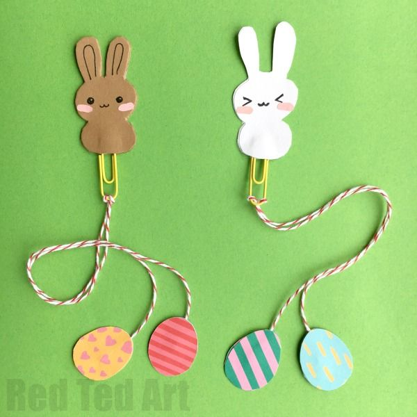 Bunny Bookmark Design For Easter Bookmark Craft Paperclip