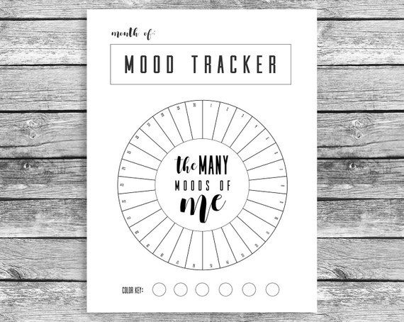 image about Bullet Journal Mood Tracker Printable referred to as Regular Temper Tracker Circle, Bullet Magazine, A5 Magazine