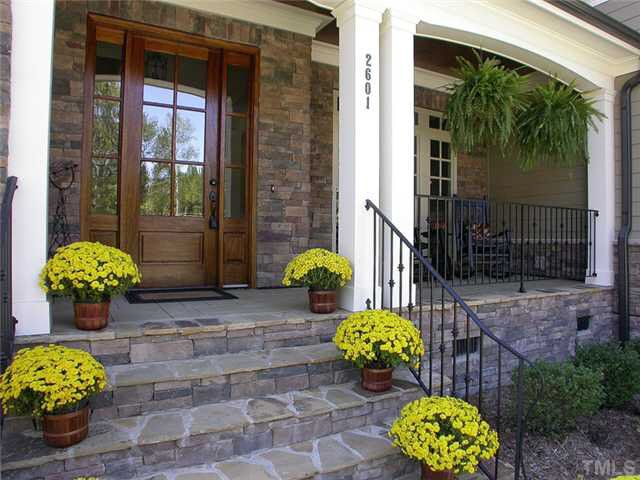 Like The Stacked Rock Porch Railings Outdoor House