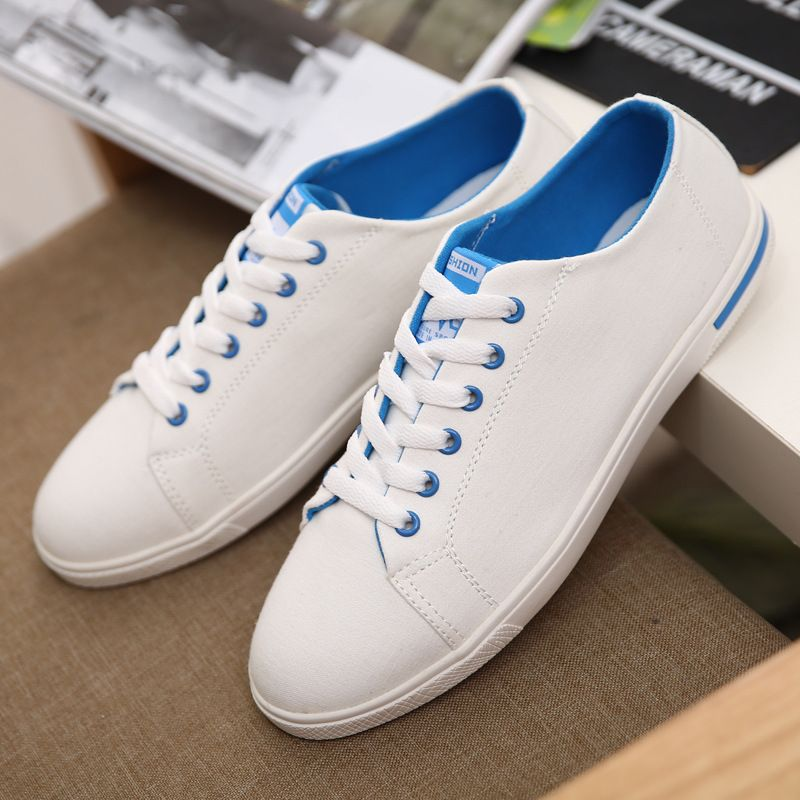 Best New British style charm white low style canvas shoes men shoes casual  shoes men flats