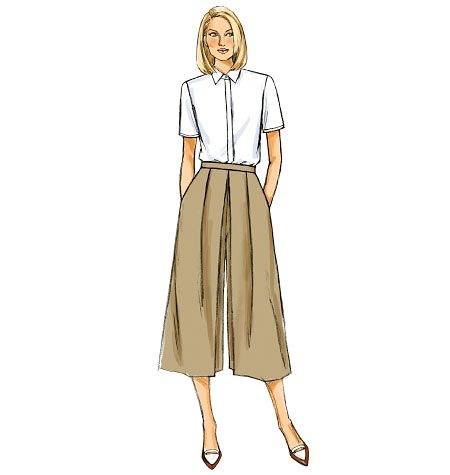 B6178 | Misses' Pleated Culottes Sewing Pattern |