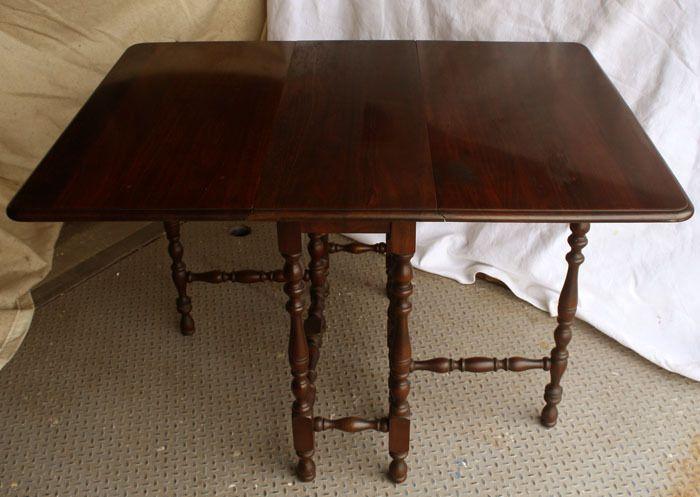 Antique Brandt Walnut Wood Wooden Drop Leaf Gateleg Gate Leg Dining Room  Table  Brandt. Antique Brandt Walnut Wood Wooden Drop Leaf Gateleg Gate Leg