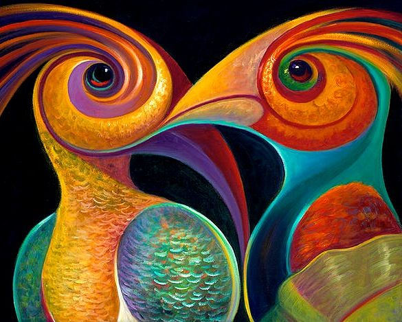 Two birds or one weird owl art en 2019 pinturas - Pinturas acrilicas modernas ...