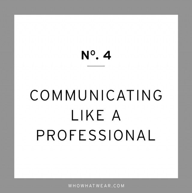 The Crucial Career Advice We Wish We Had Heard Sooner Messages - professionalism in the workplace