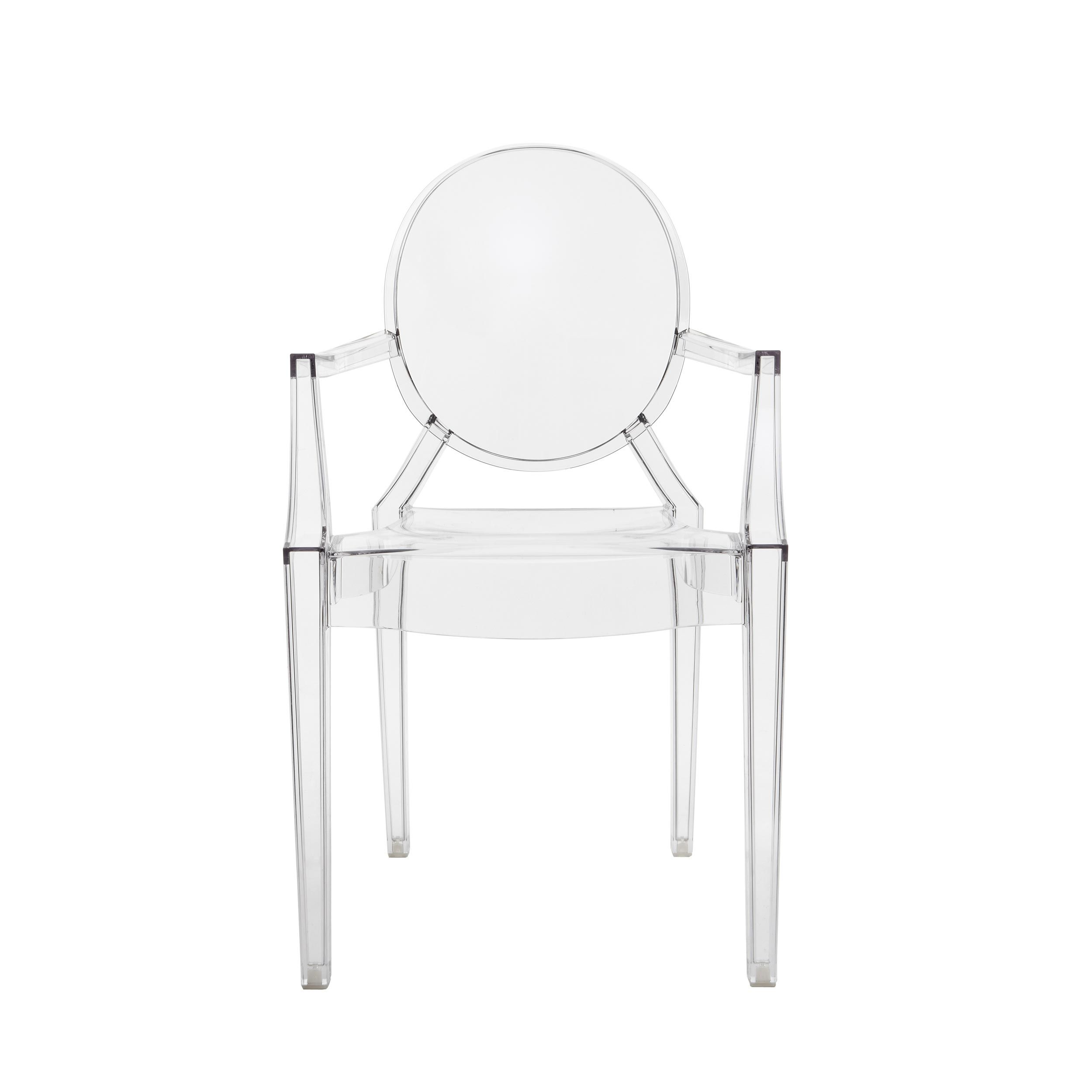 Transparent polycarbonate chair mod. Louis Ghost, Kartell ...