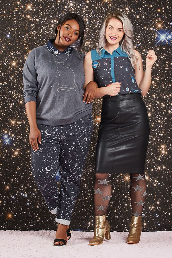 Explore and all-star lineup of star prints, cat constellation sweaters, & planetary tops you'll love to the moon & back.