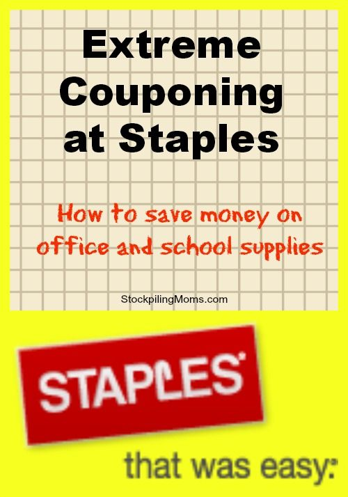 Extreme Couponing At Staples Stockpiling Moms Extreme Couponing Money Saving Tips Coupons