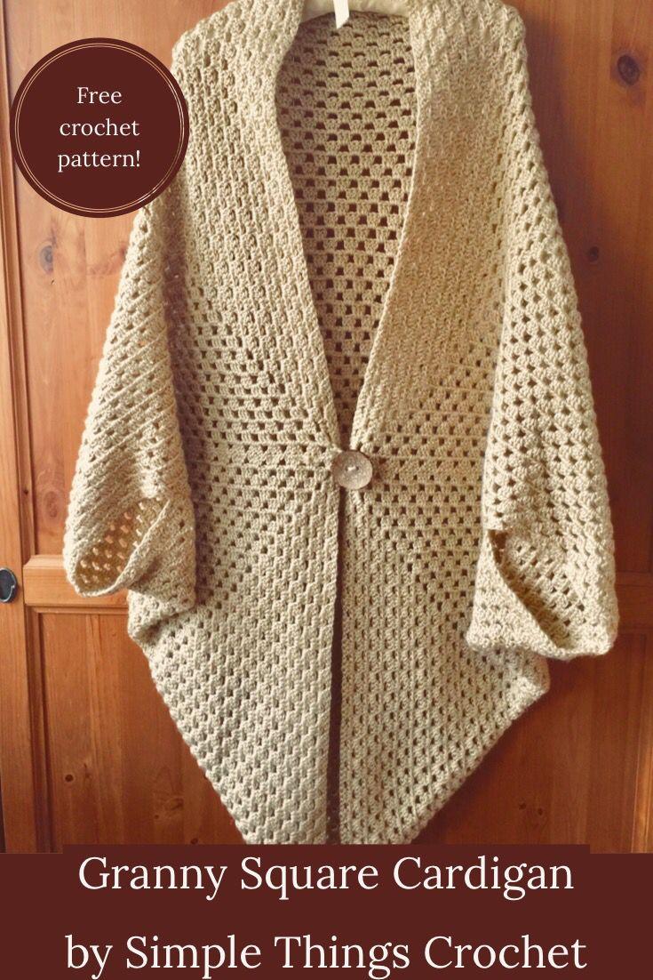 Easy and elegant crochet pattern #grannysquareponcho