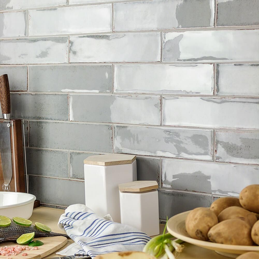 Ivy Hill Tile Moze Gray 3 In X 12 In 9 Mm Ceramic Wall Tile 22 Piece 5 38 Sq Ft Box Ext3rd100049 The Home Depot Ceramic Subway Tile Ceramic Wall Tiles Ivy Hill Tile