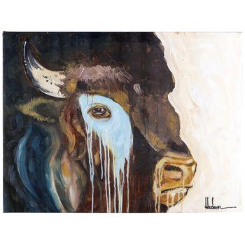 Buffalo Head Parchment Canvas Art Hobby Lobby Canvas Art Art Art Hobbies