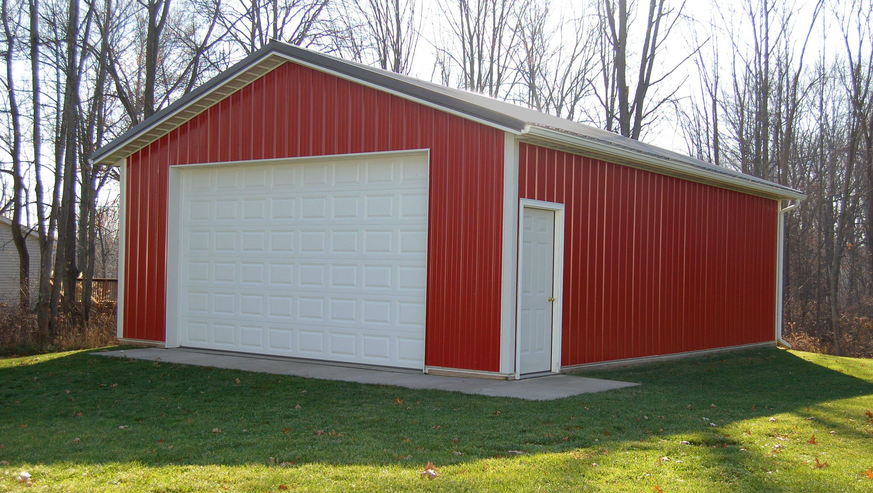 Small Red And White Storage Barn From Pole Barns Direct
