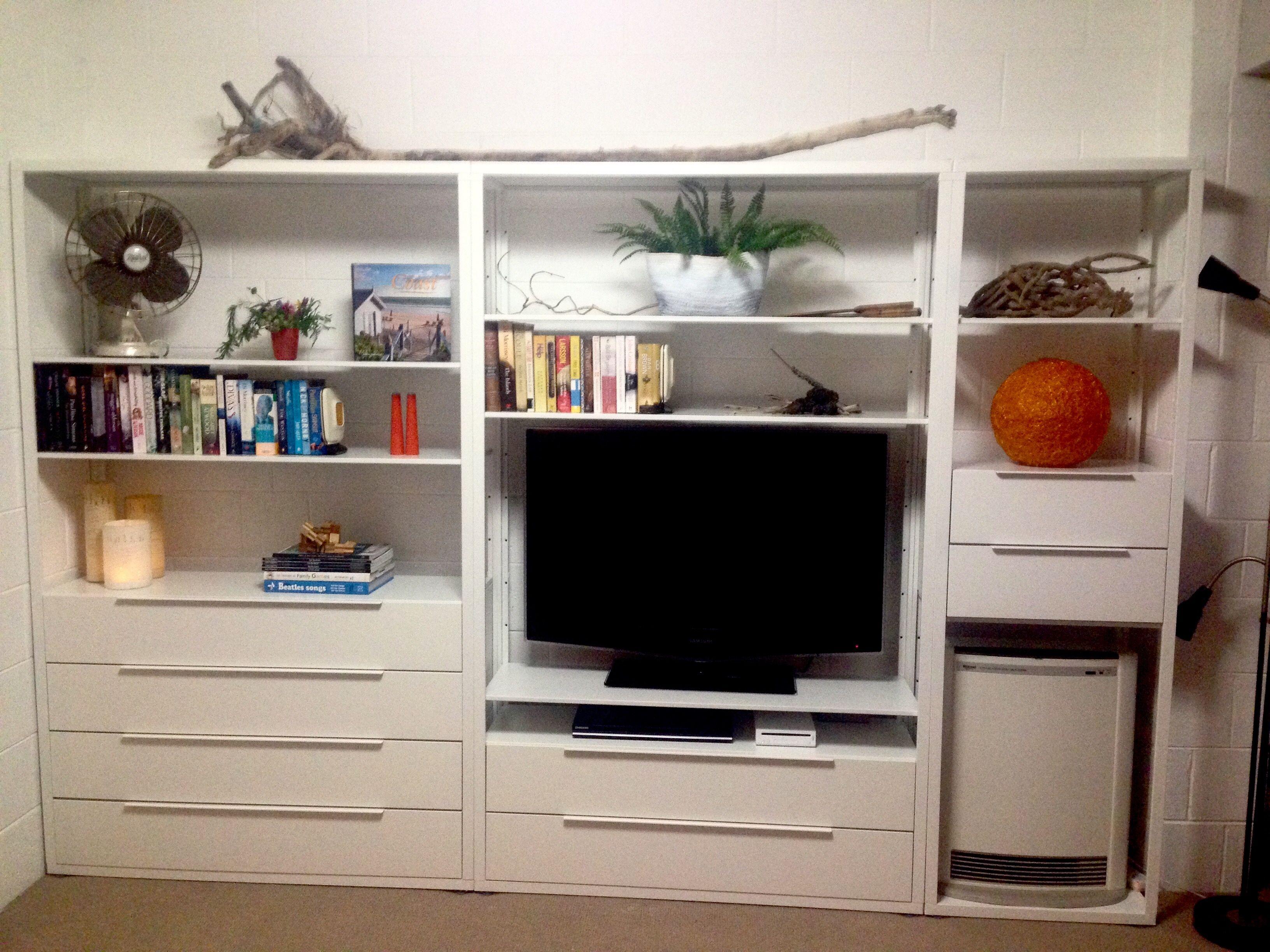 Ikea Fjalkinge Storage Wall Great For A Beach House Homes  # Meuble Tele Bonde Ikea