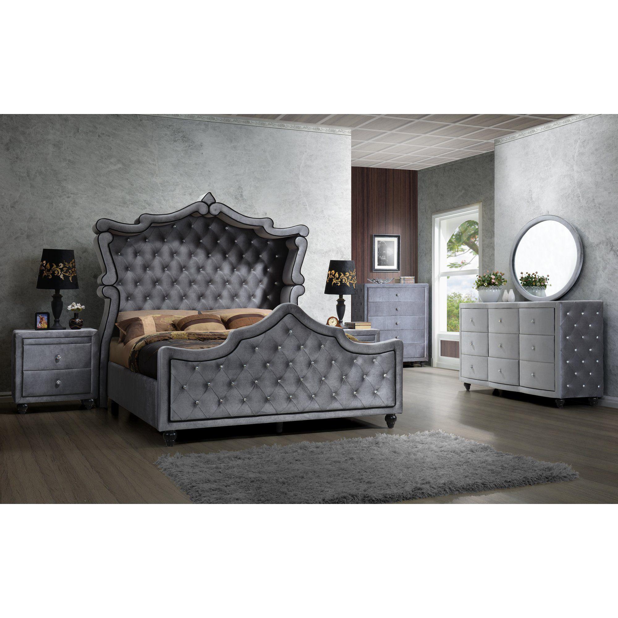 Grant Upholstered Sleigh Bed Upholstered sleigh bed