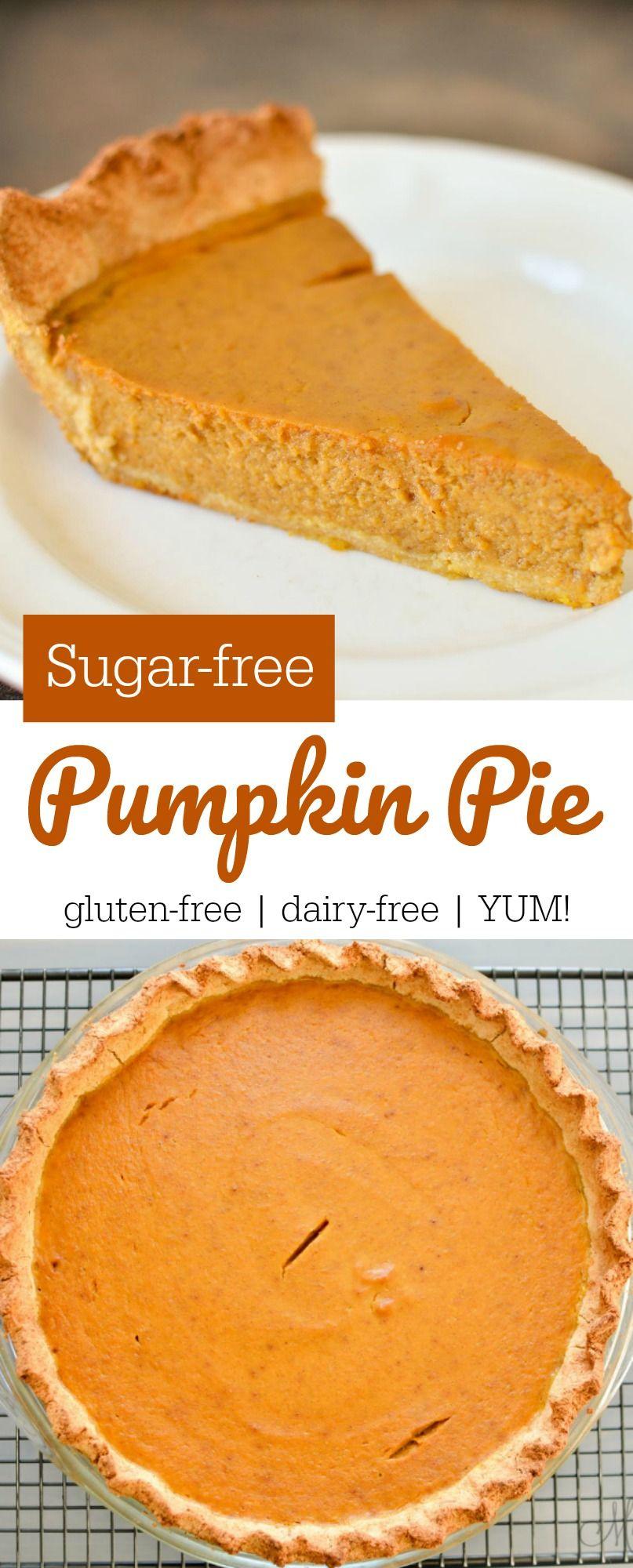 Pumpkin Pie (Gluten, Dairy, and Sugar-Free) - MamaShire