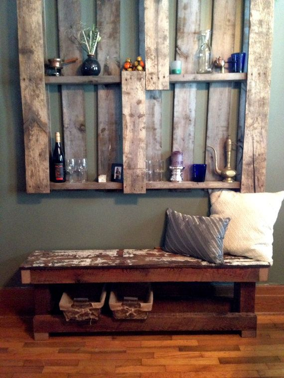 Reclaimed Wood Bench Rough Sawn Wood / Window Seat By HungerAndRansom