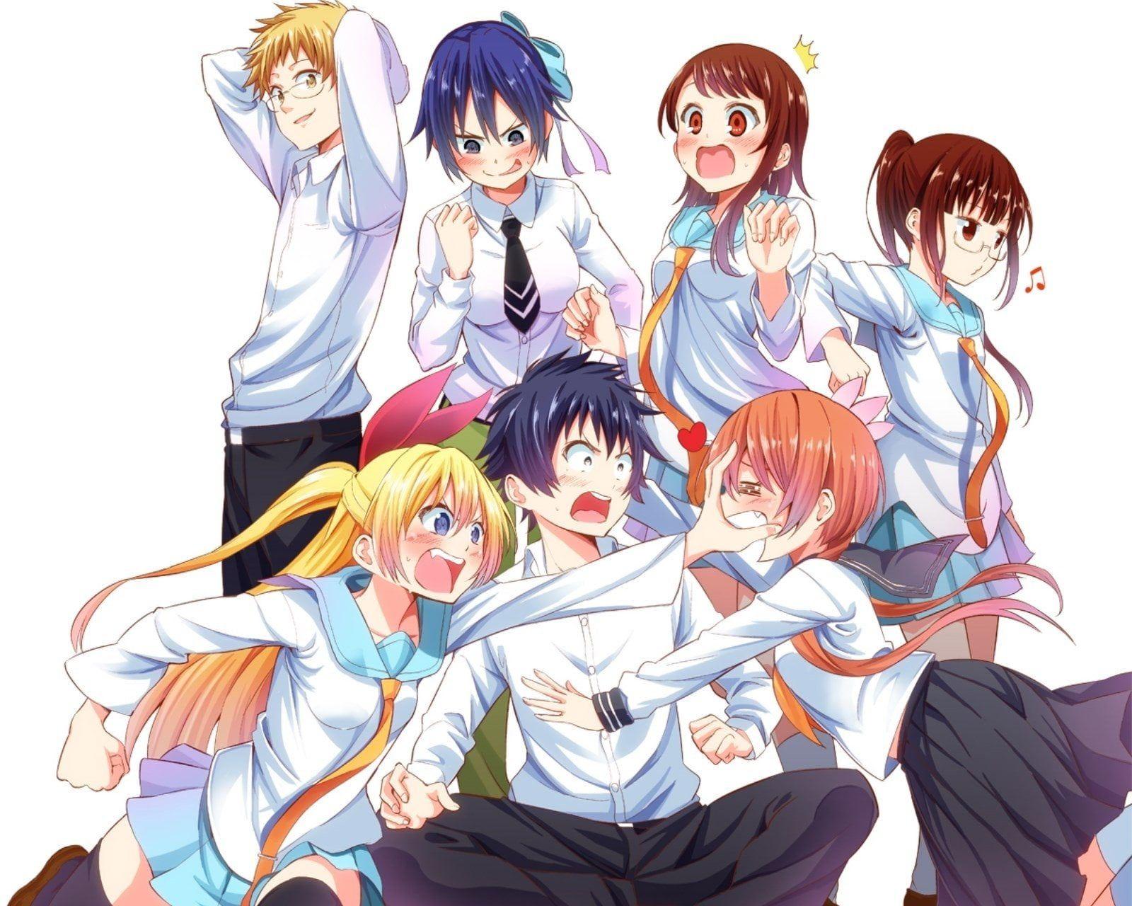 Nisekoi Wallpaper Anime Nisekoi Chitoge Kirisaki Kosaki Onodera Marika Tachibana Raku Ichijō Ruri Miyamoto Seishirou ร กลวงป วนใจ ต วละครจากการ ต น ภาพประกอบ