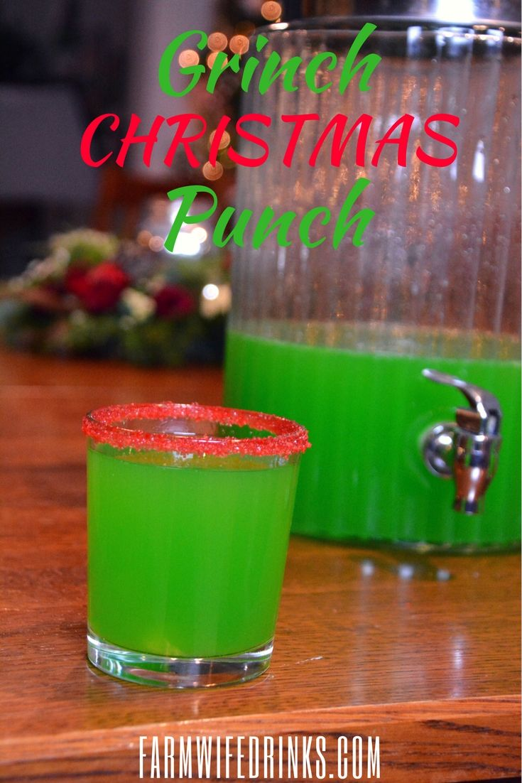 Grinch Punch - Ultimate Christmas Green Punch #christmasmorningpunch