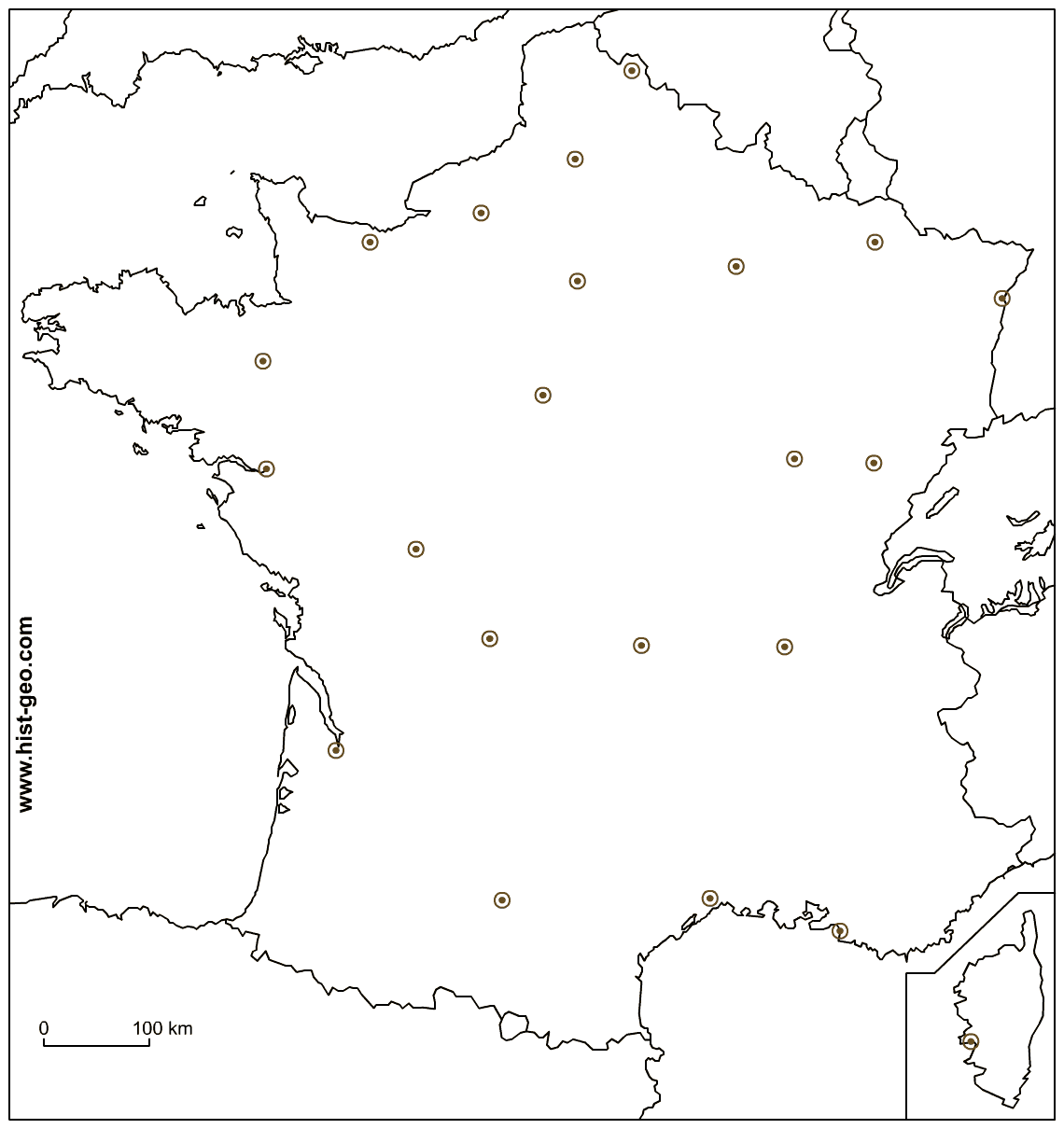 On That High Definition Free Outline Map Of France You