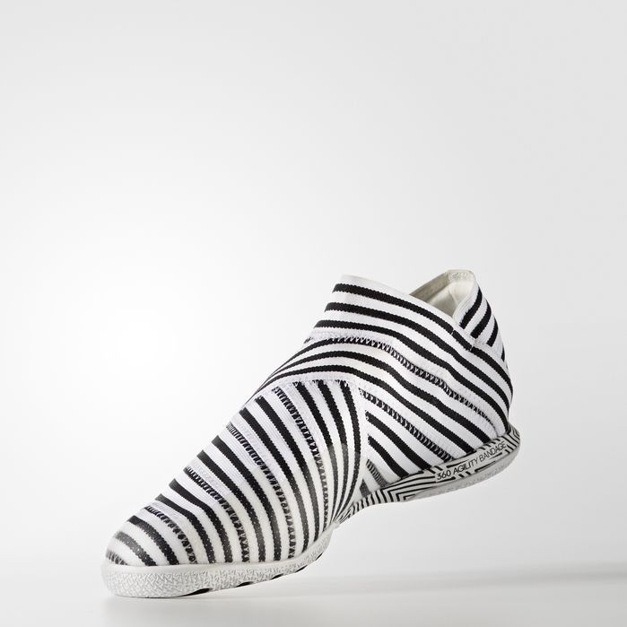 Adidas Originals Nemeziz Tango 17 360 Agility Indoor Shoes In Running White Ftw Running White Black Modesens Indoor Shoe Adidas White And Black