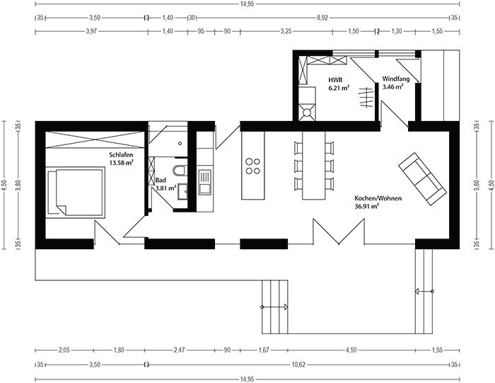 neues wohnen im cubig designhaus minihaus lol pinterest minihaus einliegerwohnung und. Black Bedroom Furniture Sets. Home Design Ideas