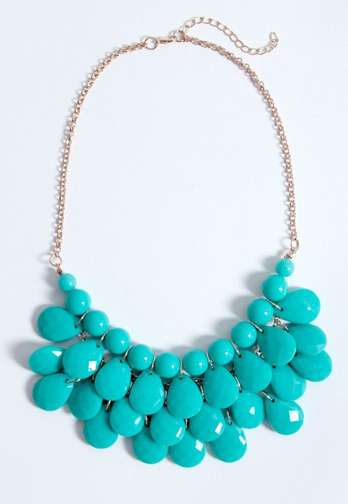 Mountain Top Statement Necklace #shopstarlet #starlet #bauble #statementjewelry #jewelry #turquoise