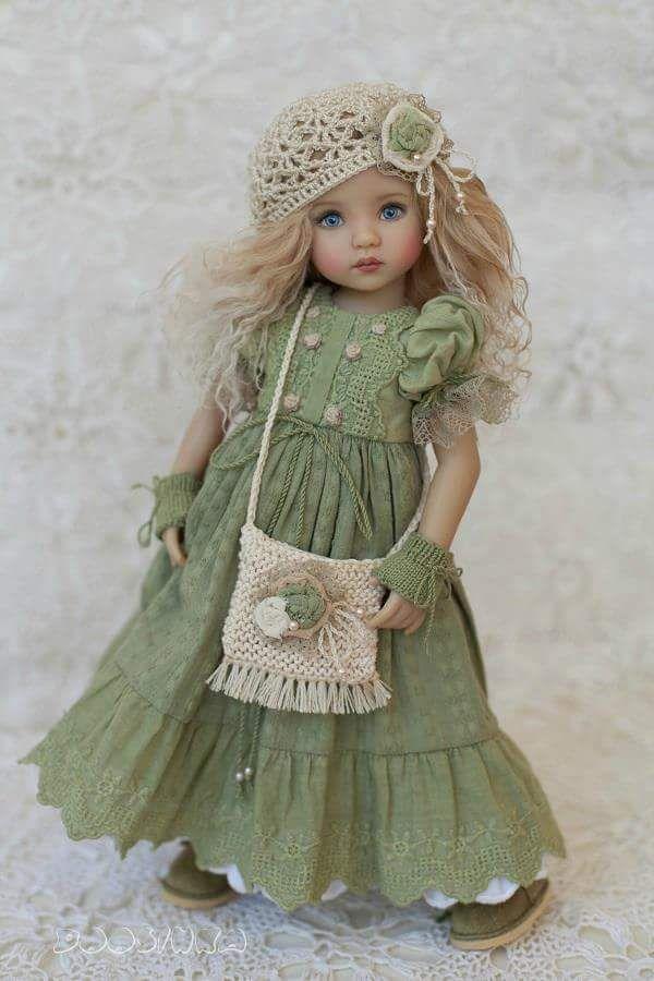 Куклы в стиле винтаж фото