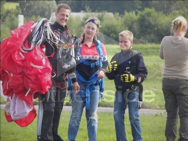 Schumacher family skydiving