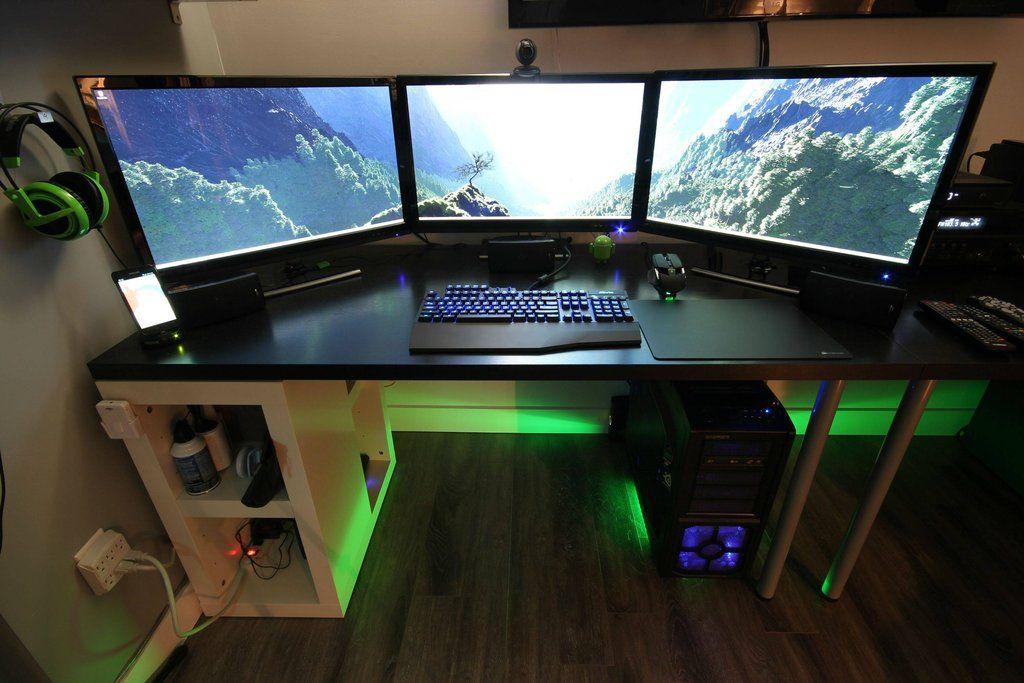 X3 Battlestation Computer Setup Gaming Room Setup Game Room