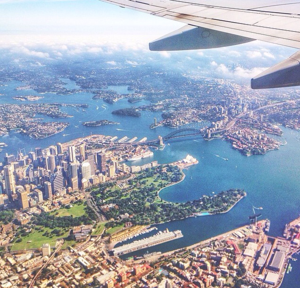 Sydney from the air Australia vacation, Vacation trips